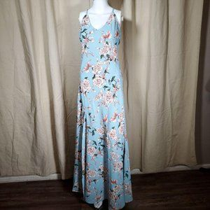 NEW Aakaa cottage core floral a line maxi dress